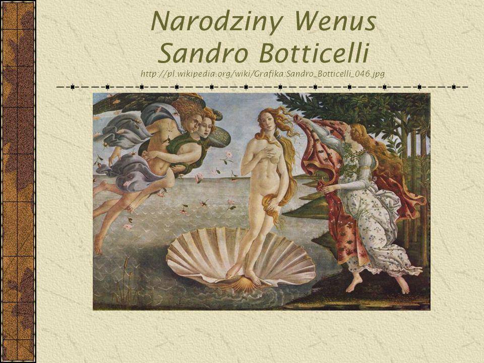 Narodziny Wenus Sandro Botticelli http://pl. wikipedia