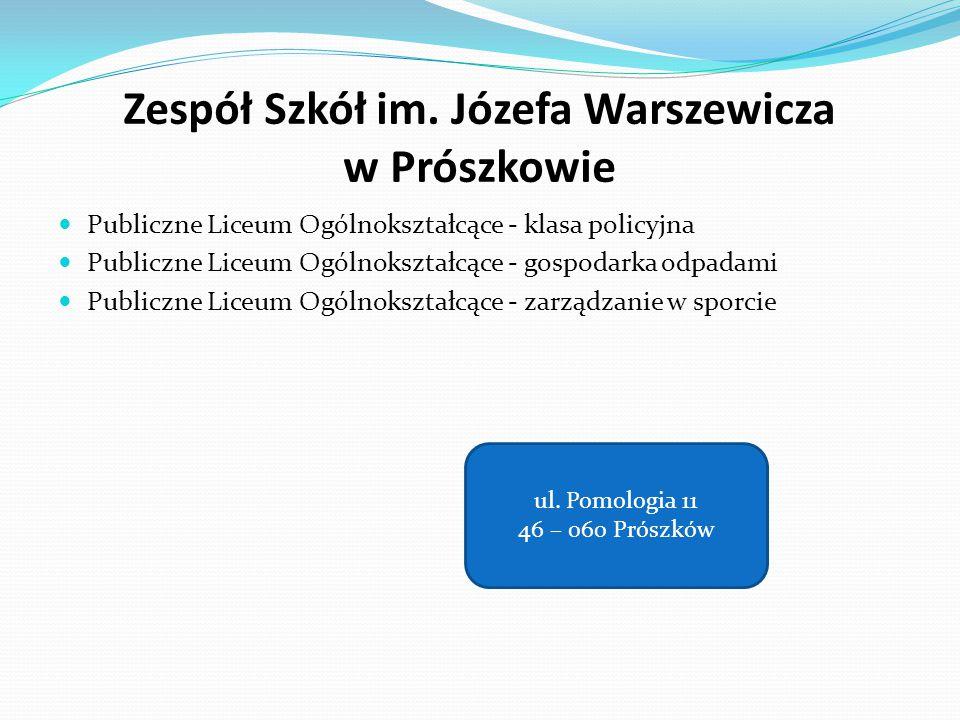 Zespół Szkół im. Józefa Warszewicza w Prószkowie