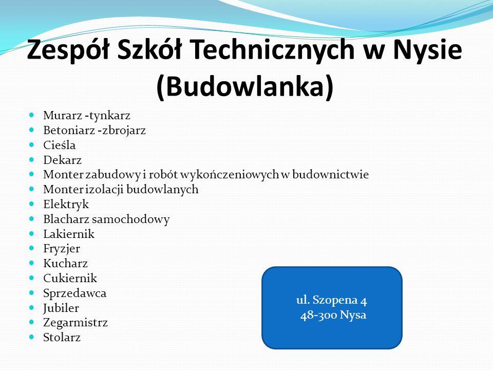 Zespół Szkół Technicznych w Nysie (Budowlanka)