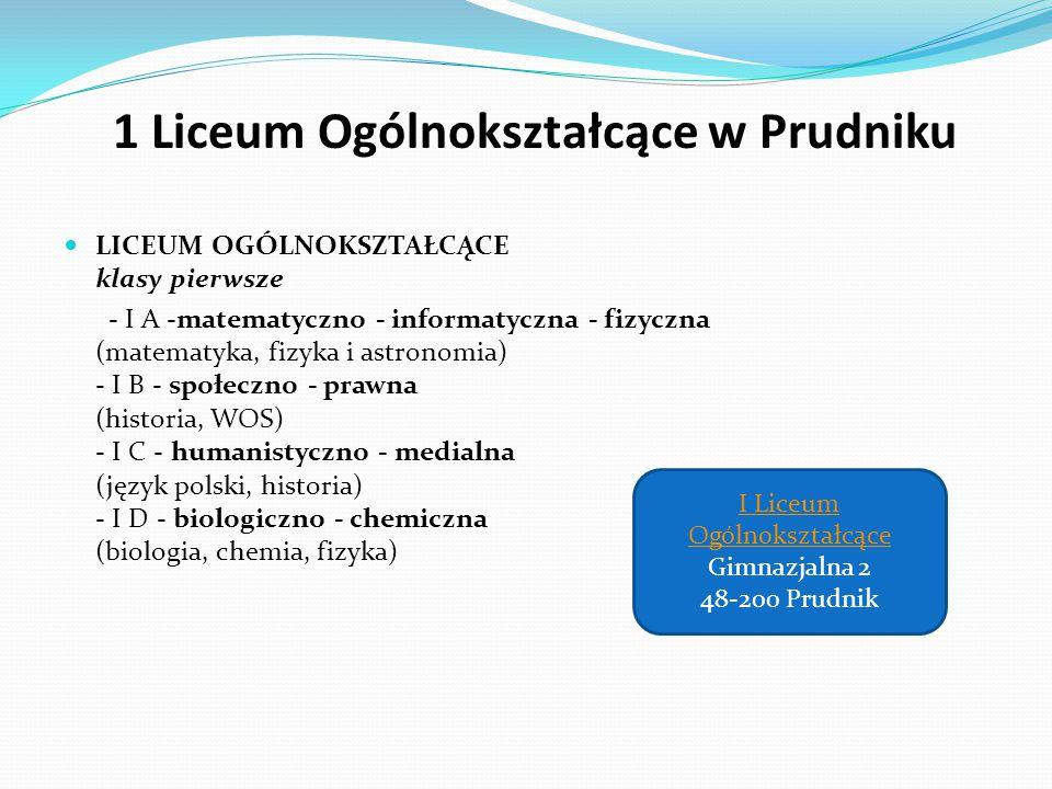1 Liceum Ogólnokształcące w Prudniku