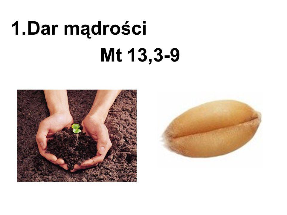 Dar mądrości Mt 13,3-9