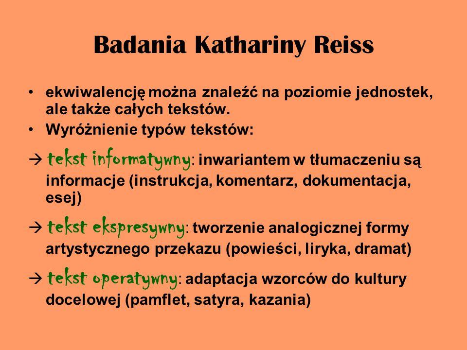 Badania Kathariny Reiss