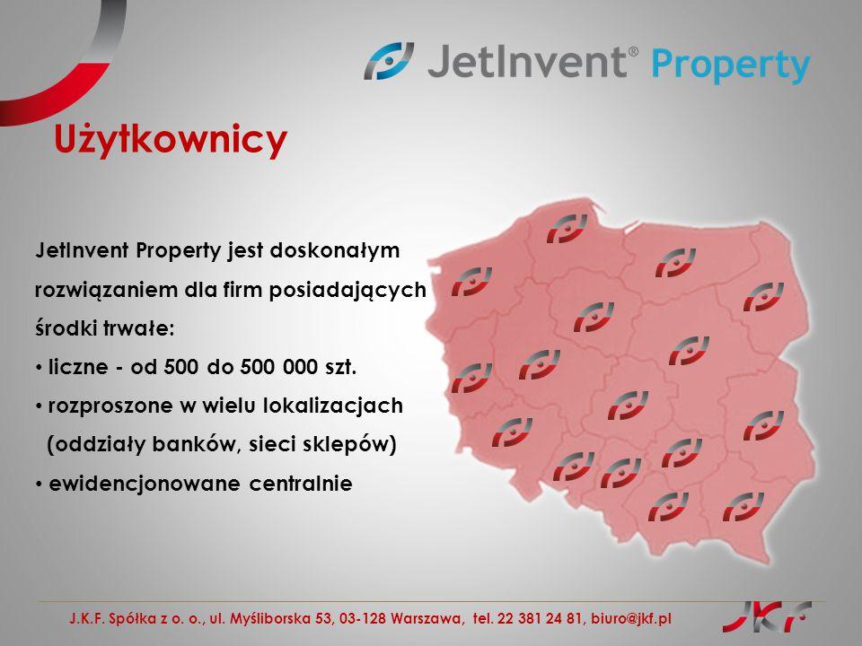 Użytkownicy JetInvent Property jest doskonałym rozwiązaniem dla firm posiadających. środki trwałe: