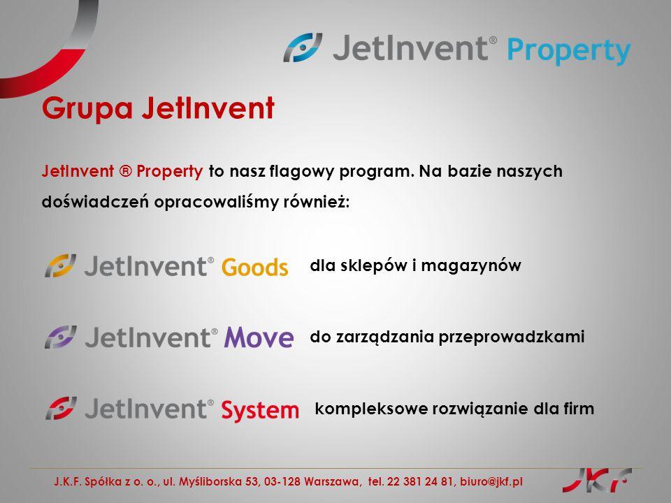 Grupa JetInvent JetInvent ® Property to nasz flagowy program. Na bazie naszych doświadczeń opracowaliśmy również: