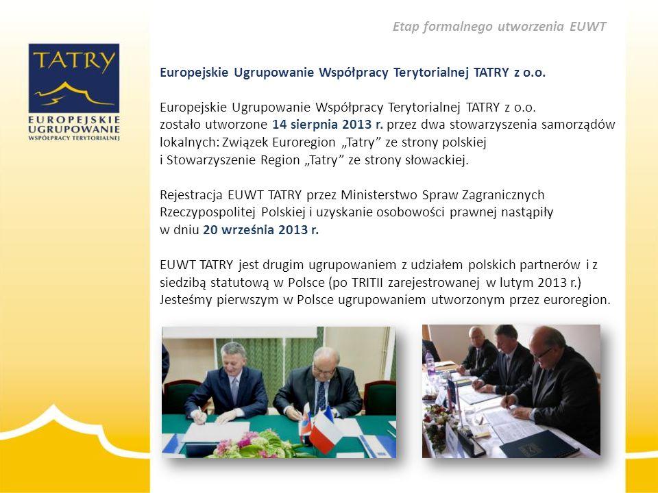 Etap formalnego utworzenia EUWT