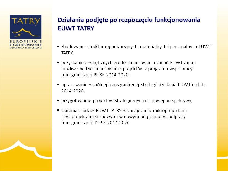 Działania podjęte po rozpoczęciu funkcjonowania EUWT TATRY