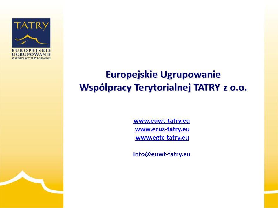 Europejskie Ugrupowanie Współpracy Terytorialnej TATRY z o.o.
