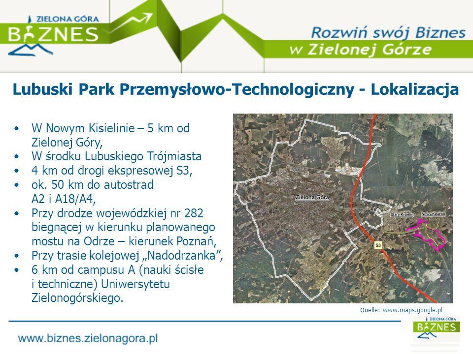 Lubuski Park Przemysłowo-Technologiczny - Lokalizacja