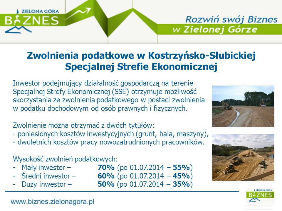 Zwolnienia podatkowe w Kostrzyńsko-Słubickiej