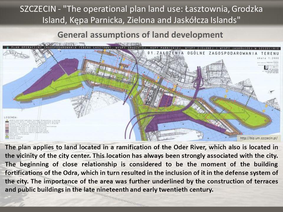 General assumptions of land development