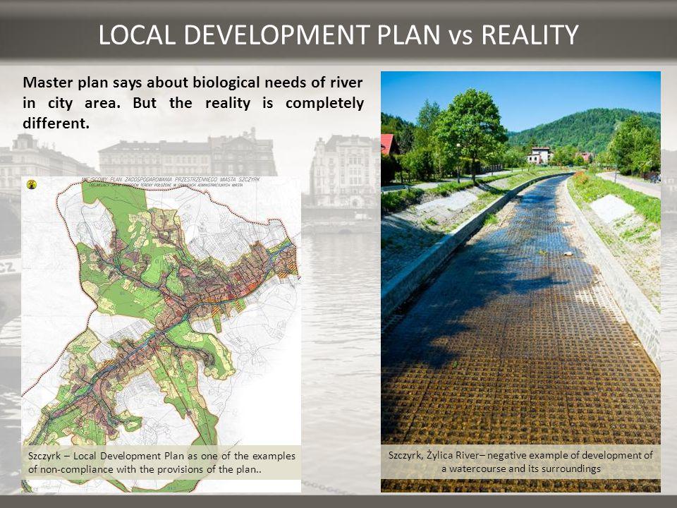 LOCAL DEVELOPMENT PLAN vs REALITY