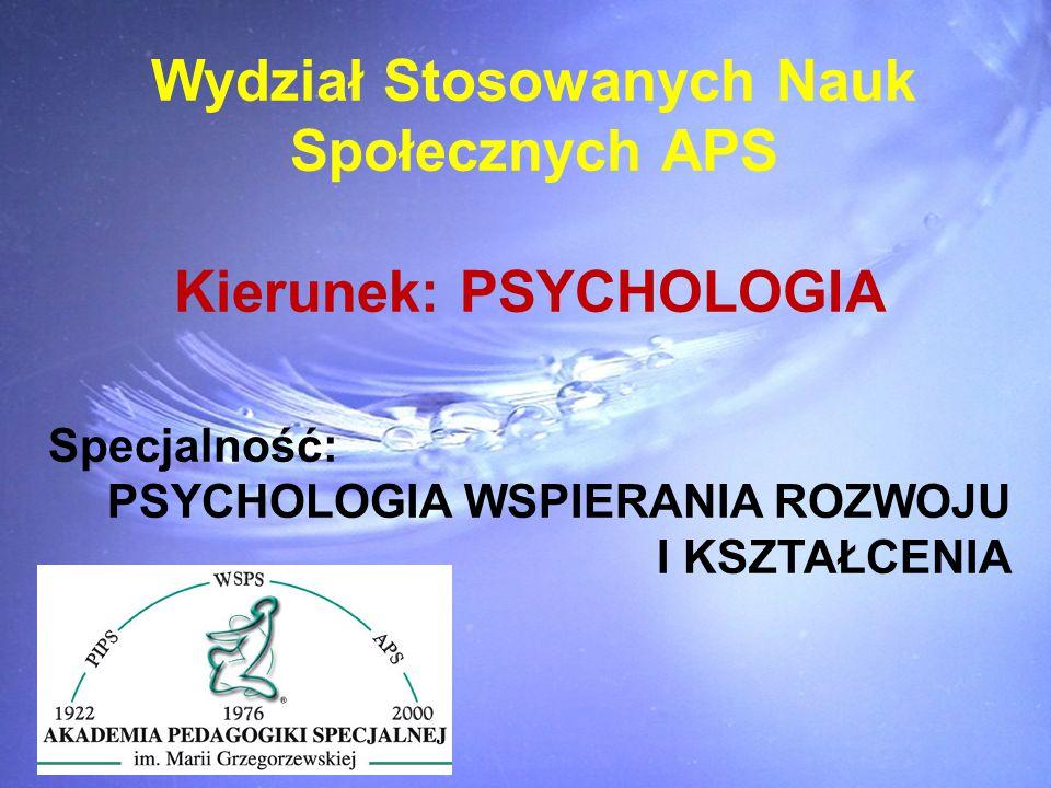 Wydział Stosowanych Nauk Kierunek: PSYCHOLOGIA