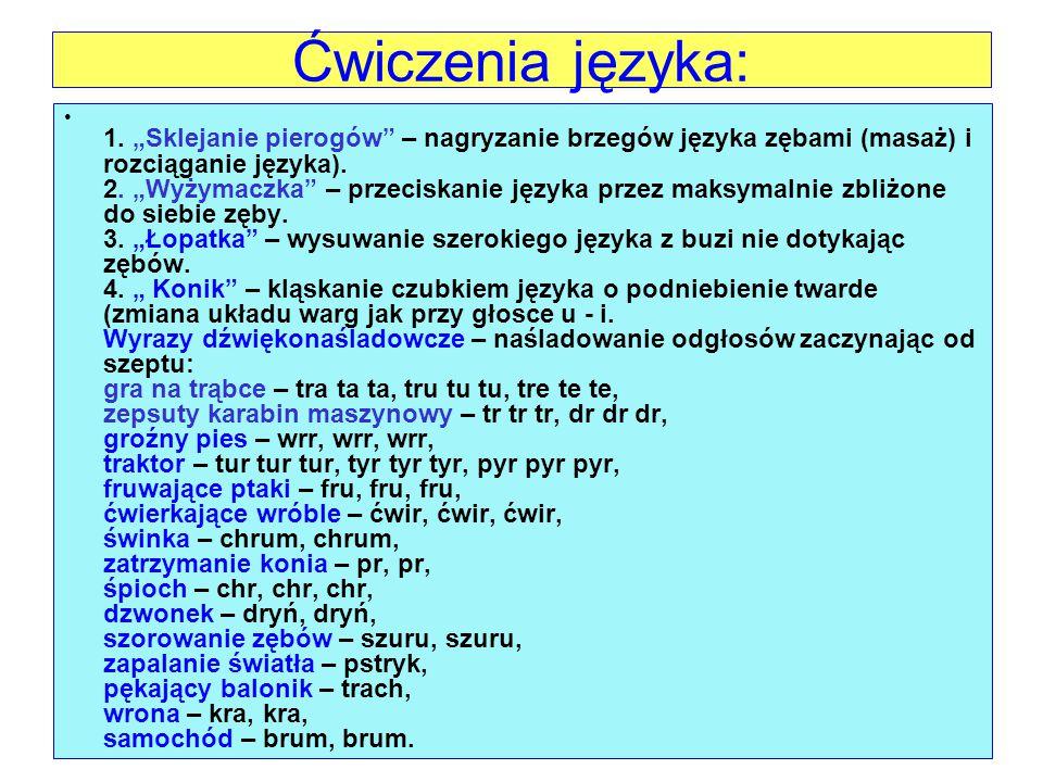 Ćwiczenia języka: