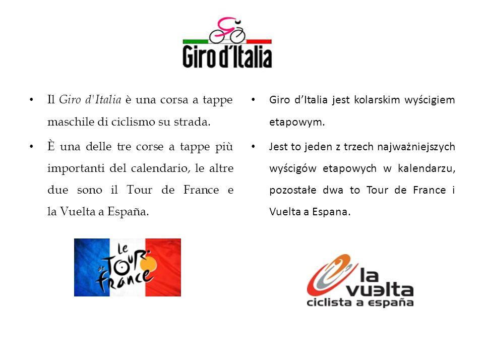 Il Giro d Italia è una corsa a tappe maschile di ciclismo su strada.