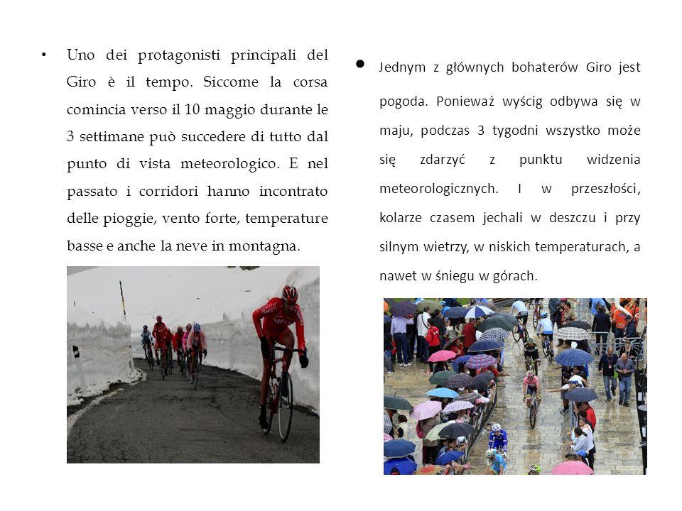 • Jednym z głównych bohaterów Giro jest pogoda