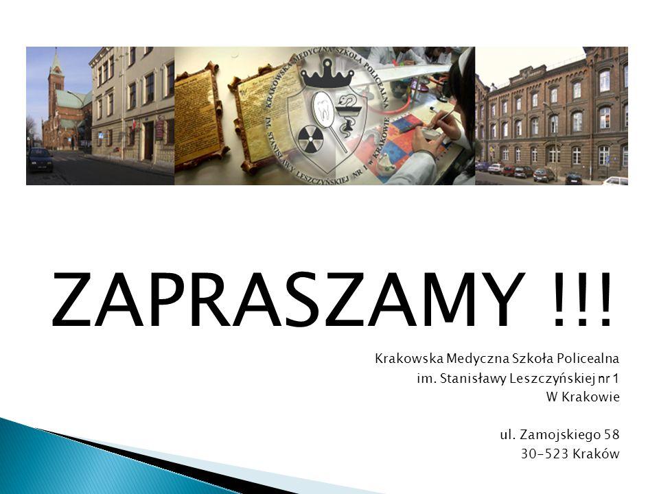 ZAPRASZAMY !!! Krakowska Medyczna Szkoła Policealna