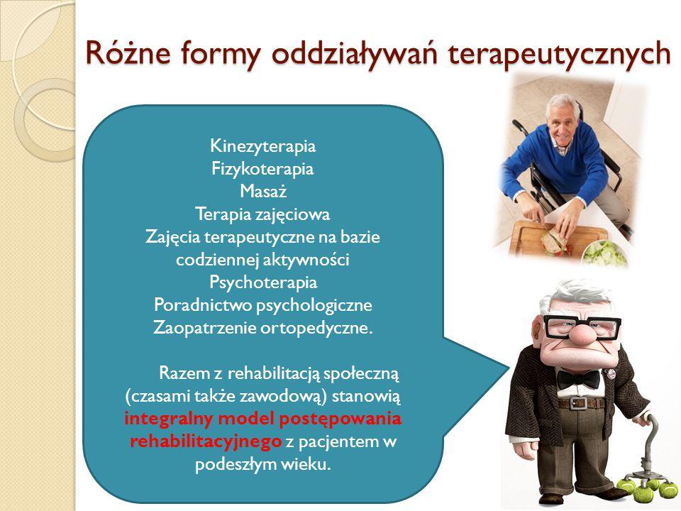 Różne formy oddziaływań terapeutycznych