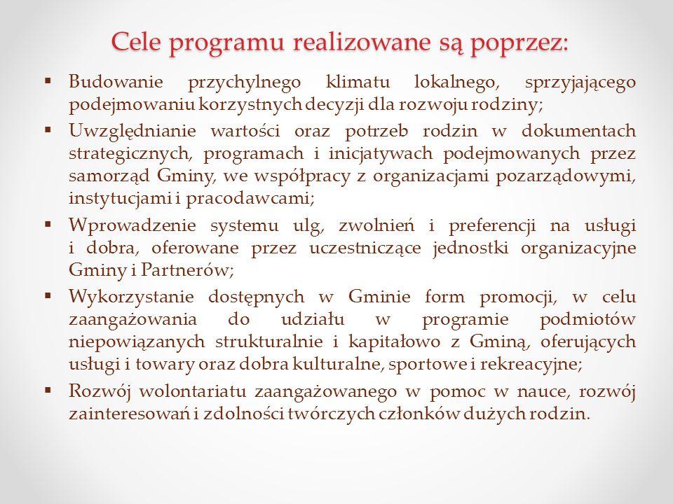 Cele programu realizowane są poprzez: