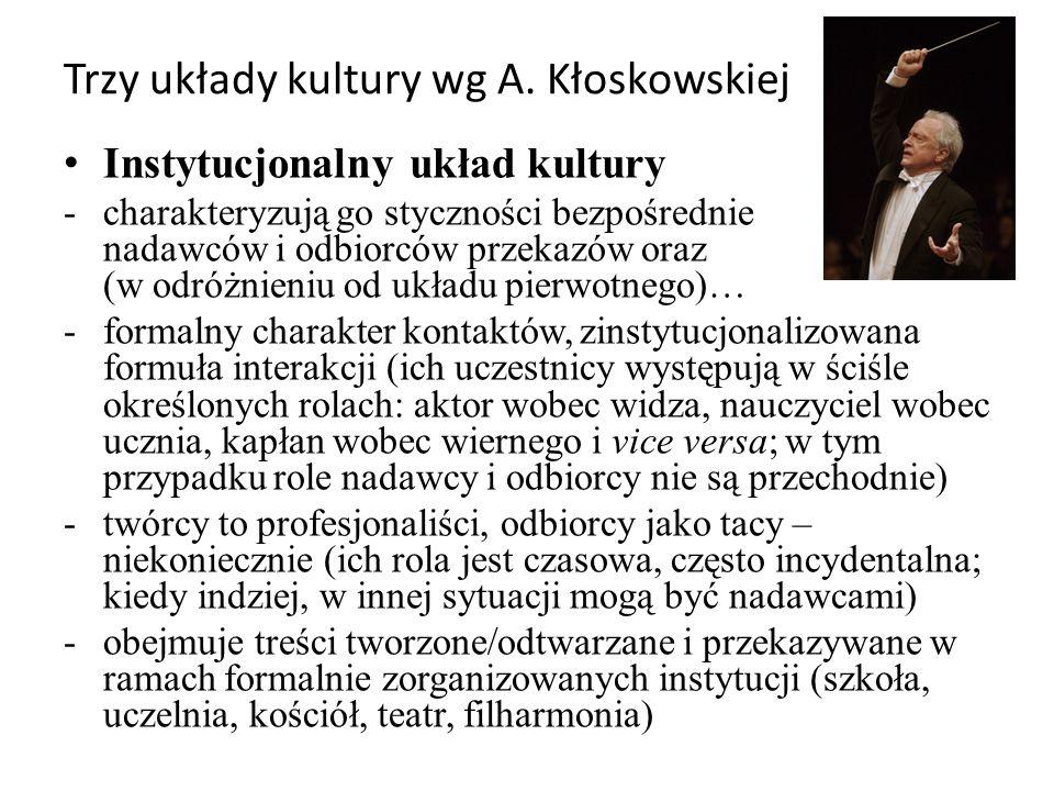 Trzy układy kultury wg A. Kłoskowskiej