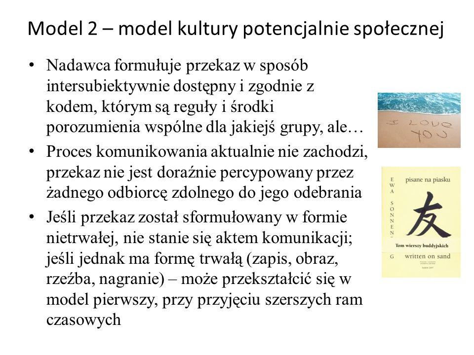 Model 2 – model kultury potencjalnie społecznej