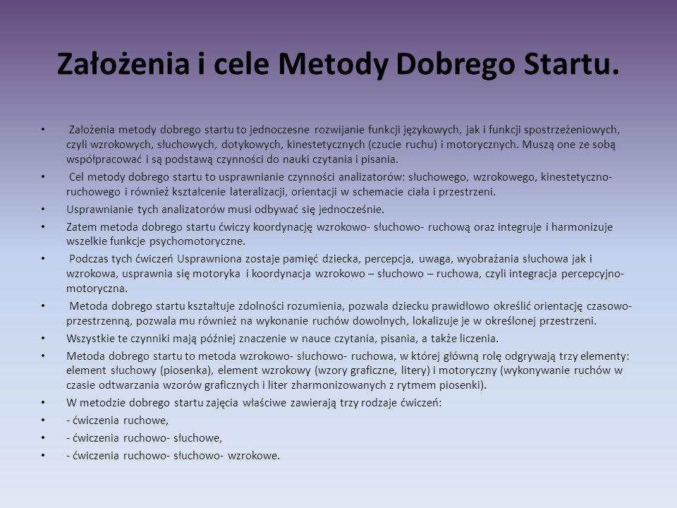 Założenia i cele Metody Dobrego Startu.