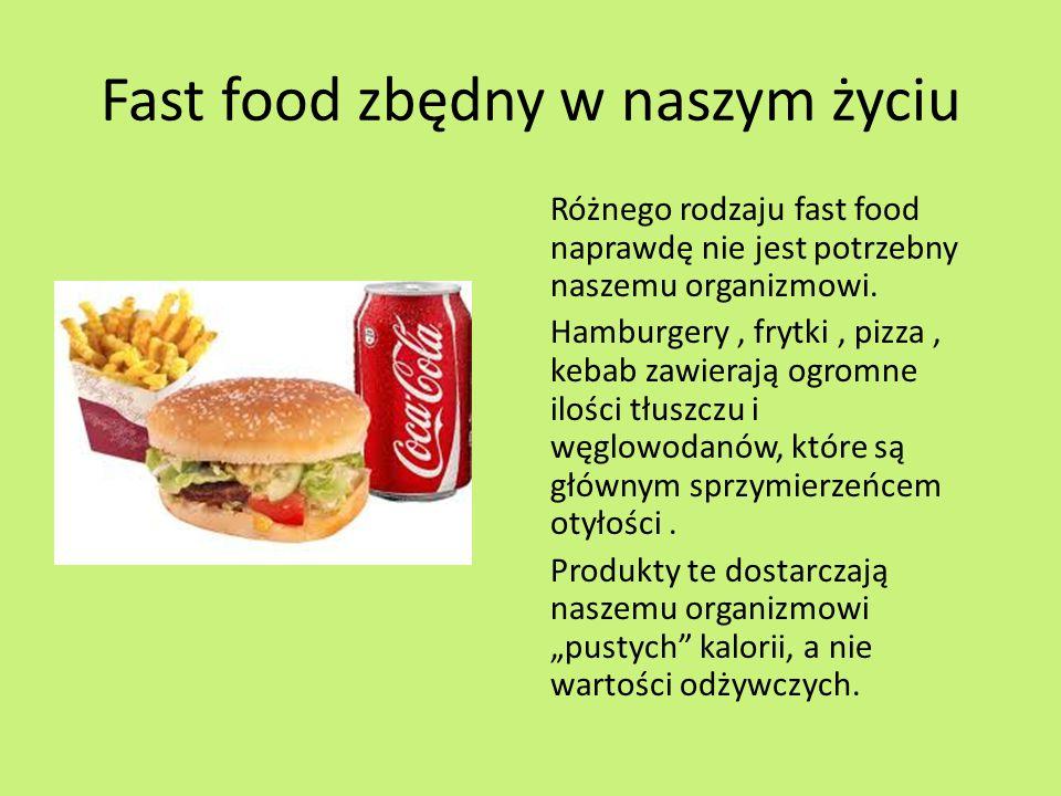 Fast food zbędny w naszym życiu