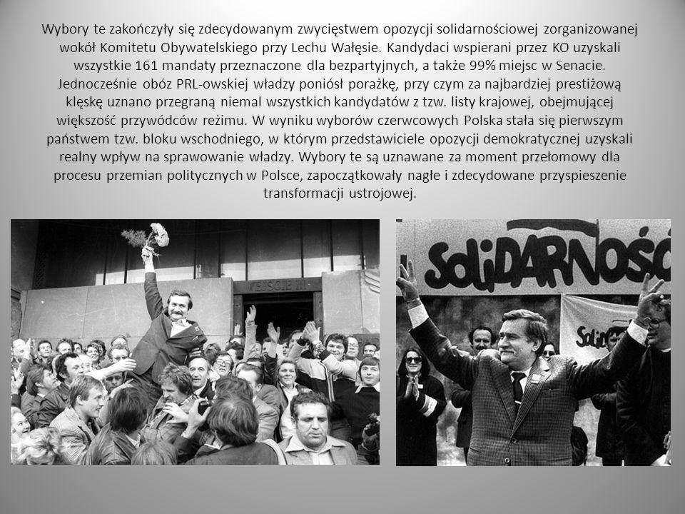 Wybory te zakończyły się zdecydowanym zwycięstwem opozycji solidarnościowej zorganizowanej wokół Komitetu Obywatelskiego przy Lechu Wałęsie.