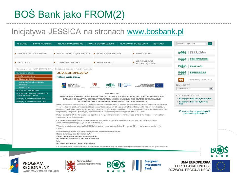 BOŚ Bank jako FROM(2) Inicjatywa JESSICA na stronach www.bosbank.pl