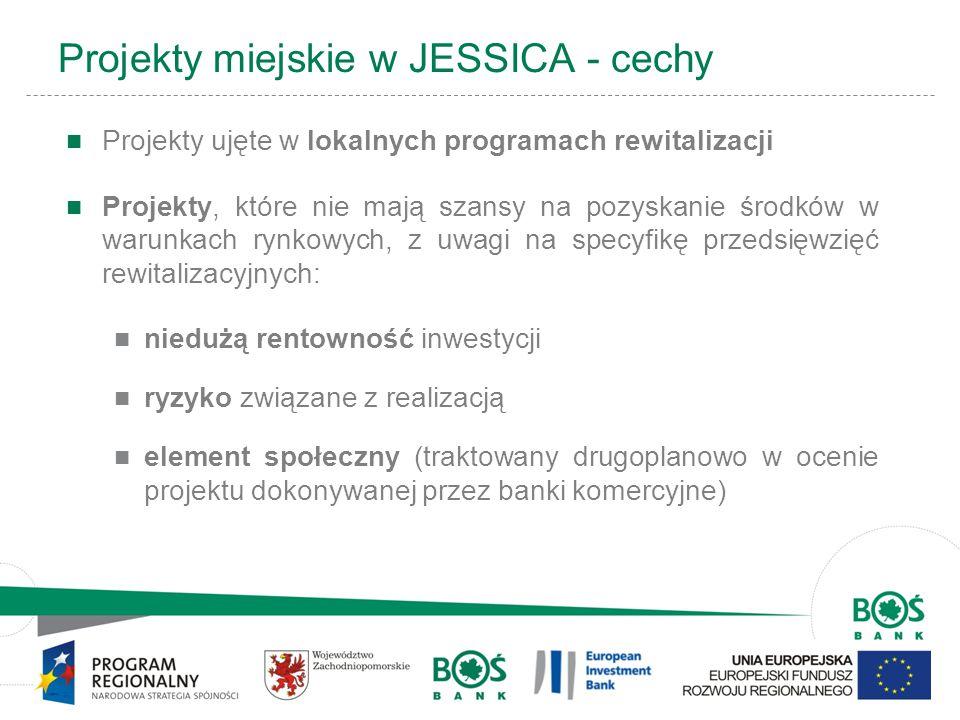 Projekty miejskie w JESSICA - cechy