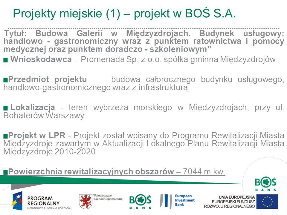 Projekty miejskie (1) – projekt w BOŚ S.A.