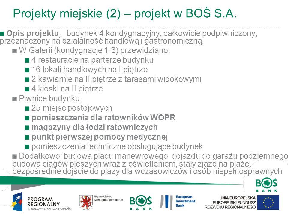 Projekty miejskie (2) – projekt w BOŚ S.A.