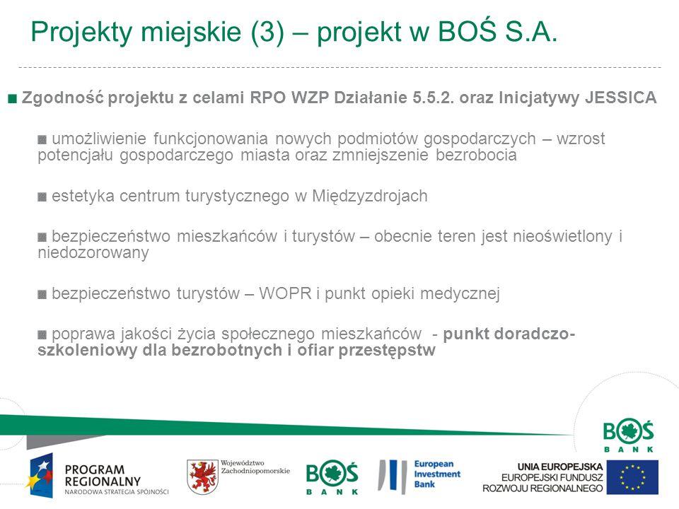 Projekty miejskie (3) – projekt w BOŚ S.A.