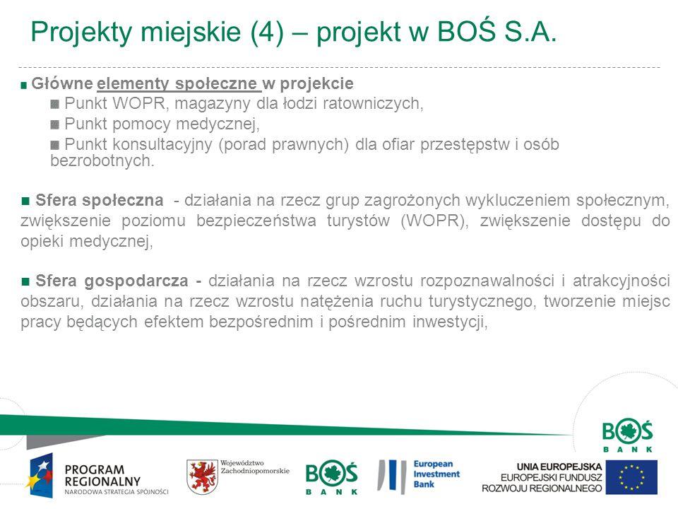 Projekty miejskie (4) – projekt w BOŚ S.A.