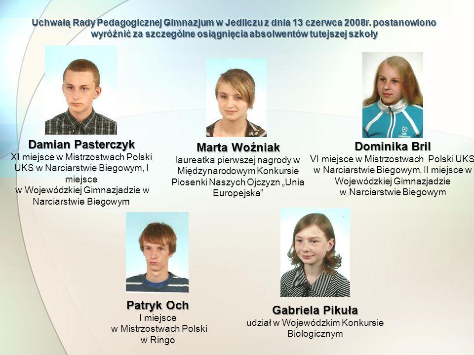 Damian Pasterczyk Marta Woźniak Dominika Bril Patryk Och