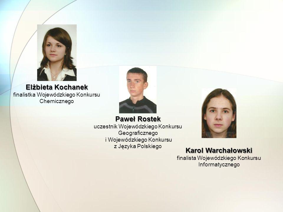 Elżbieta Kochanek Paweł Rostek Karol Warchałowski