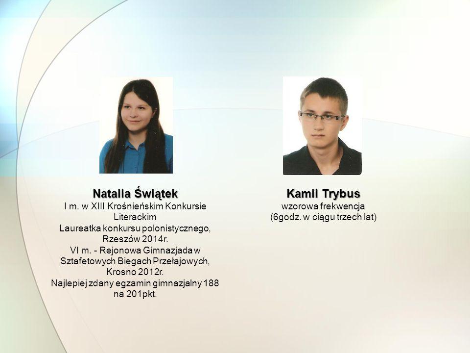 Natalia Świątek Kamil Trybus