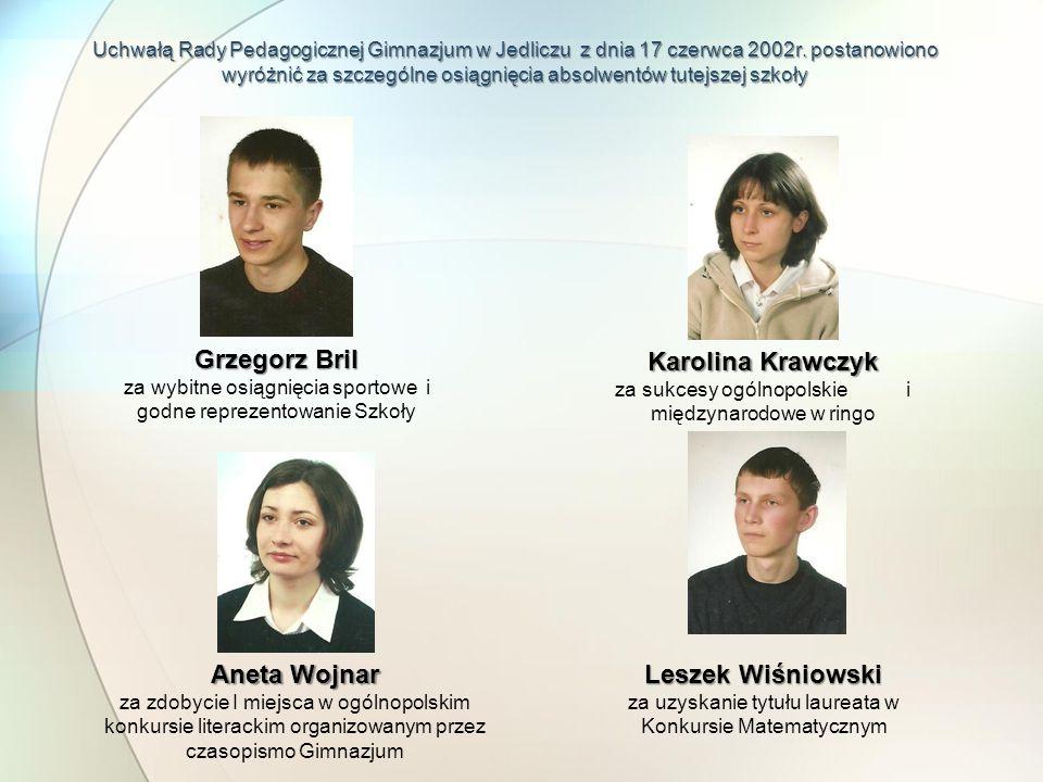 Grzegorz Bril Karolina Krawczyk Aneta Wojnar Leszek Wiśniowski