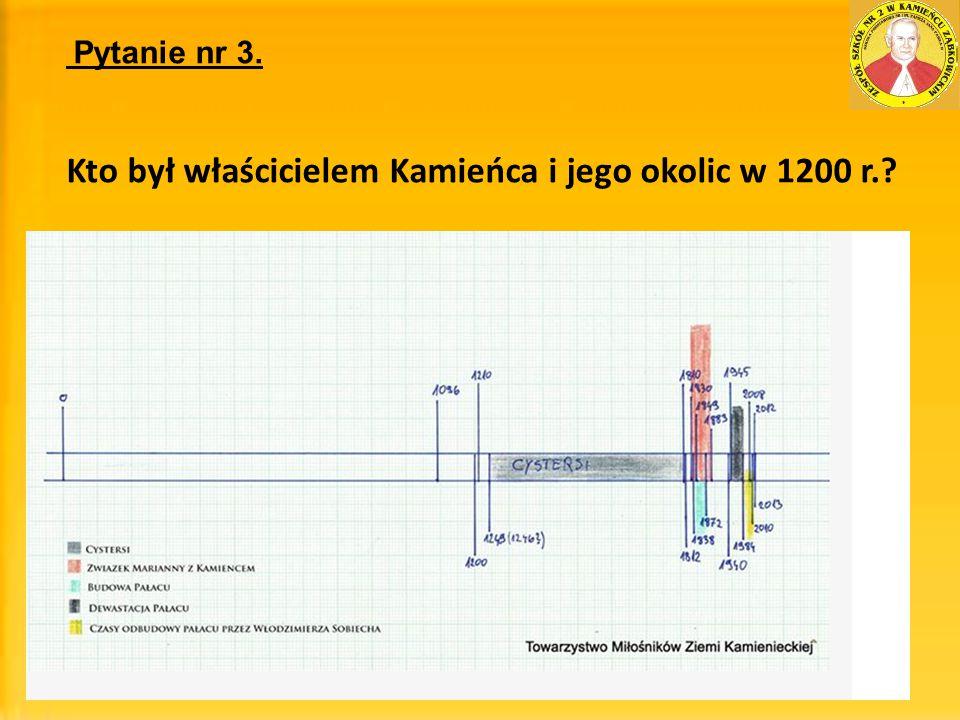 Kto był właścicielem Kamieńca i jego okolic w 1200 r.