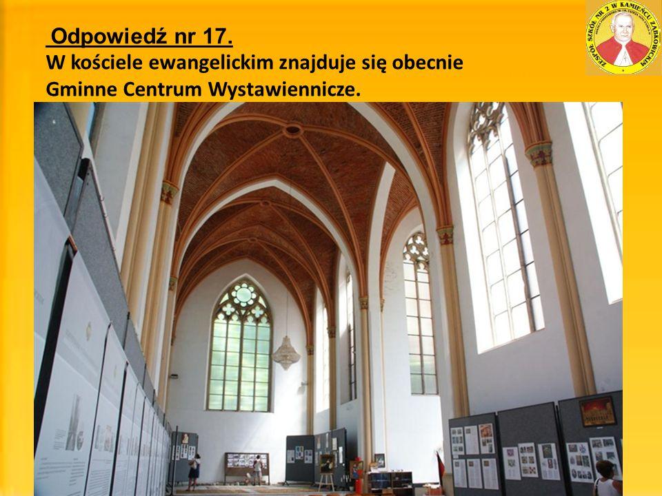 W kościele ewangelickim znajduje się obecnie