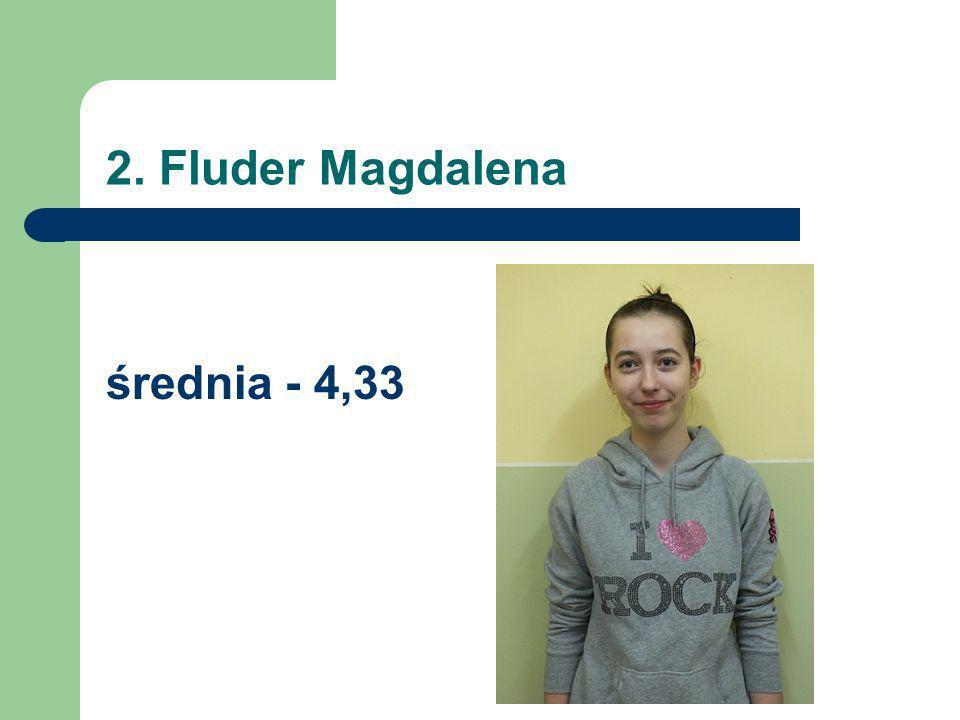 2. Fluder Magdalena średnia - 4,33