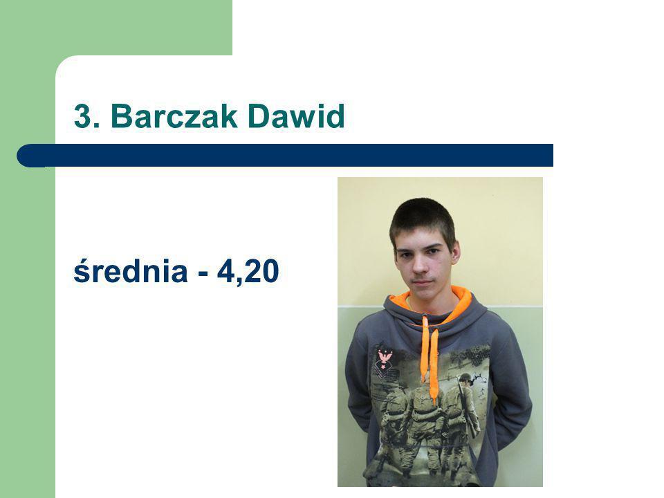 3. Barczak Dawid średnia - 4,20