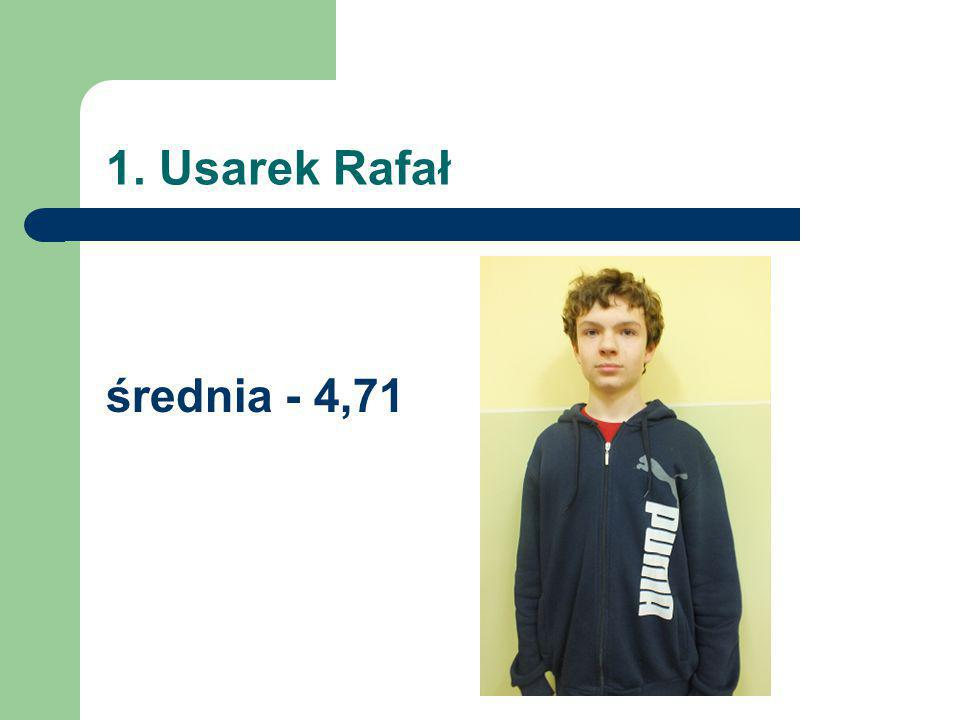 1. Usarek Rafał średnia - 4,71