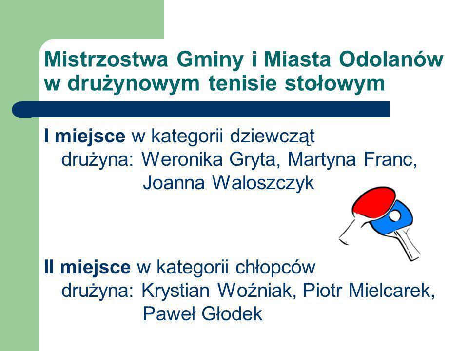Mistrzostwa Gminy i Miasta Odolanów w drużynowym tenisie stołowym