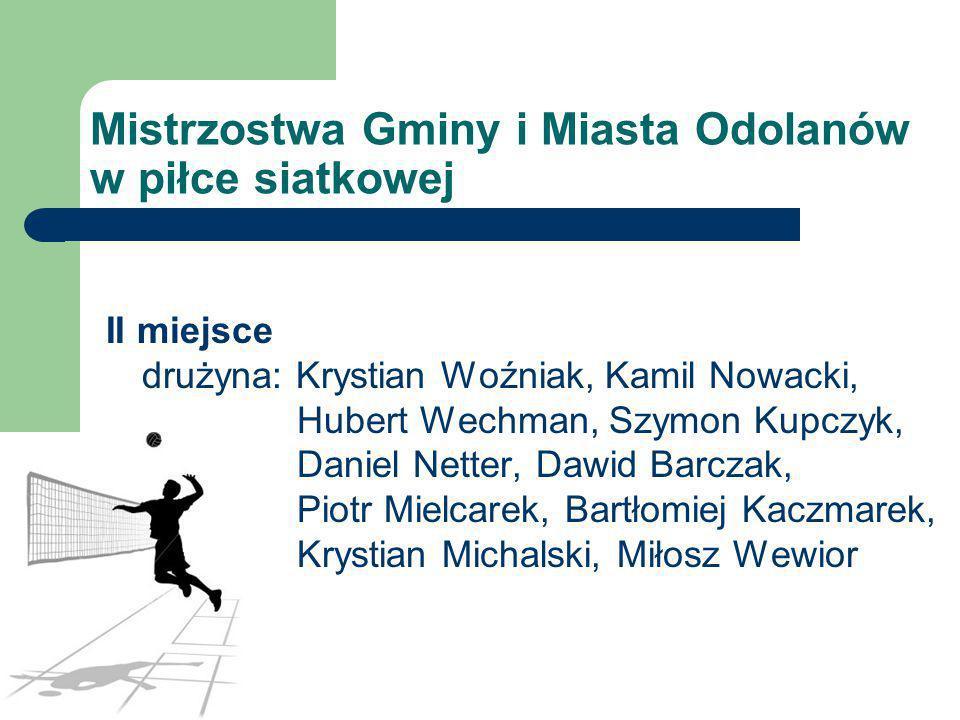 Mistrzostwa Gminy i Miasta Odolanów w piłce siatkowej