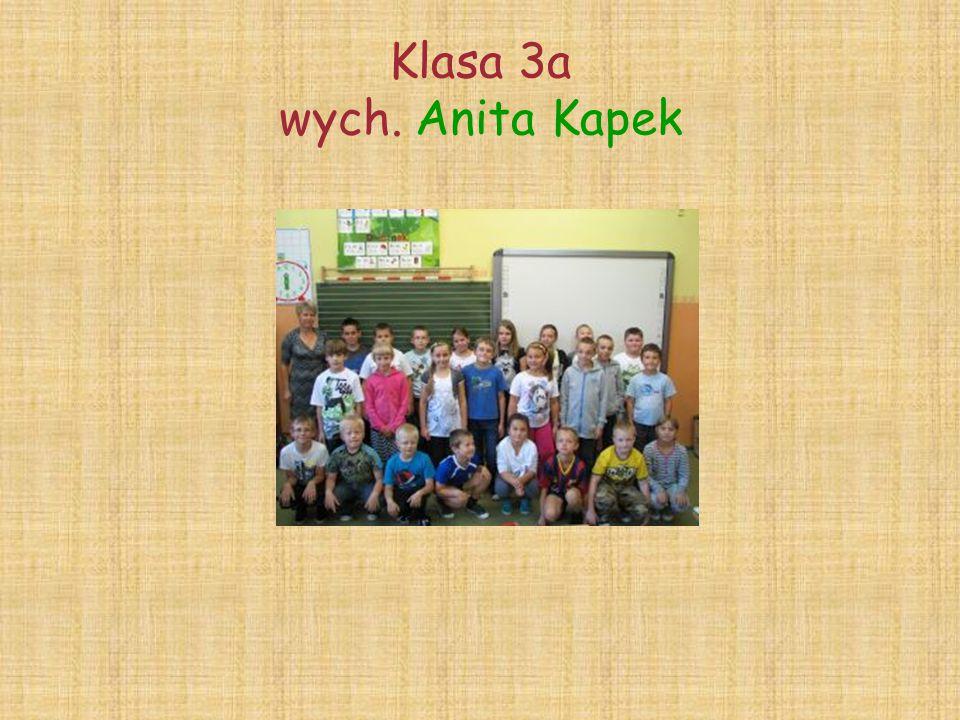 Klasa 3a wych. Anita Kapek