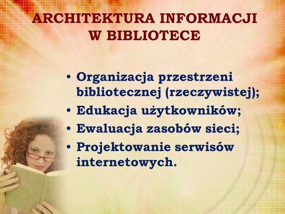 ARCHITEKTURA INFORMACJI W BIBLIOTECE