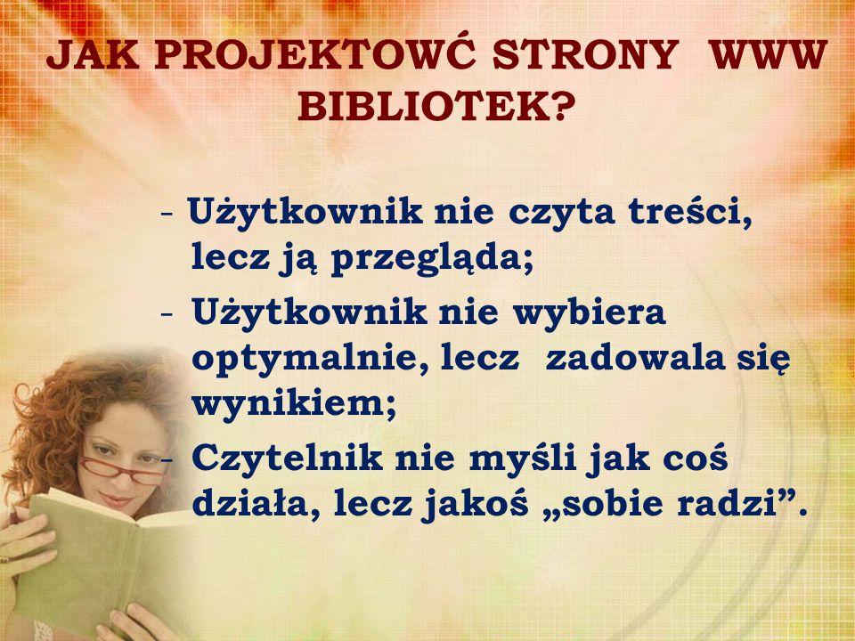 JAK PROJEKTOWĆ STRONY WWW BIBLIOTEK