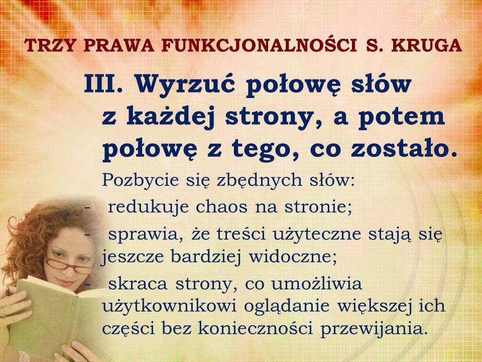 TRZY PRAWA FUNKCJONALNOŚCI S. KRUGA