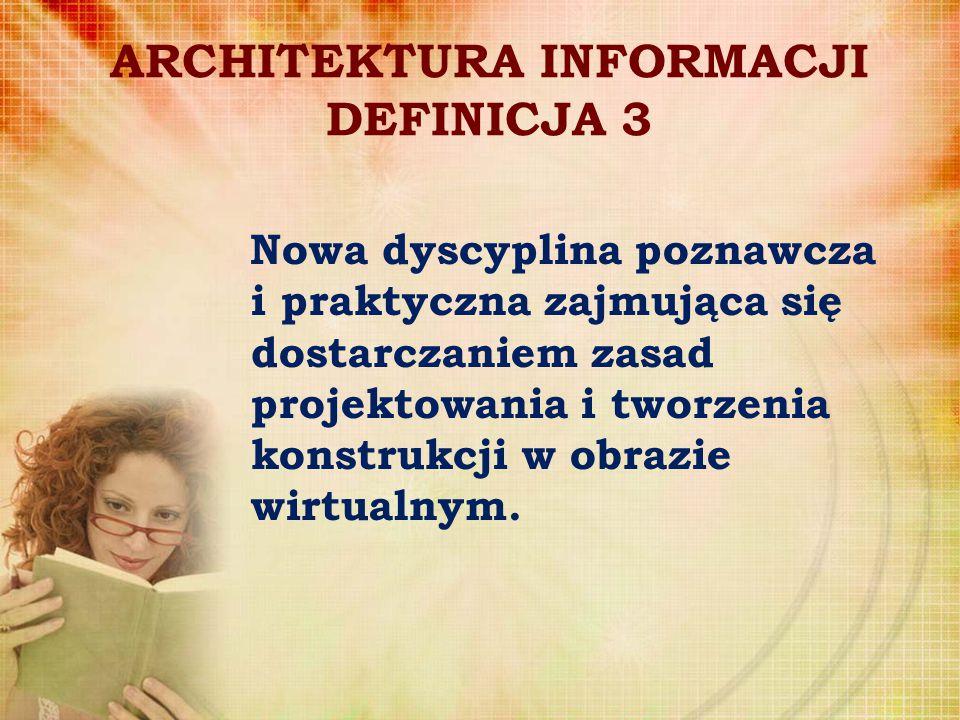ARCHITEKTURA INFORMACJI DEFINICJA 3