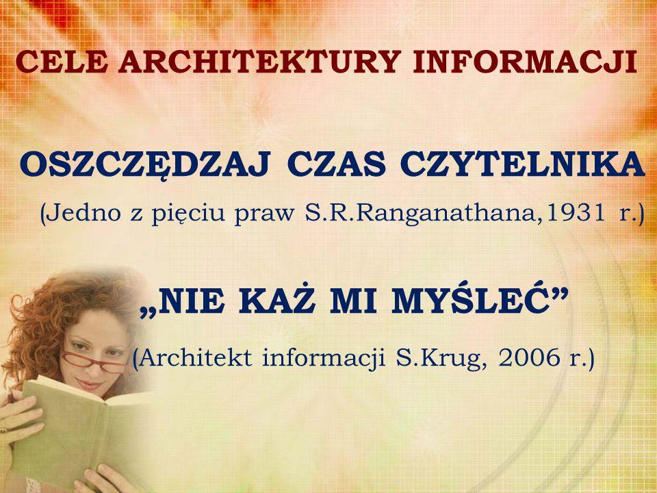 CELE ARCHITEKTURY INFORMACJI